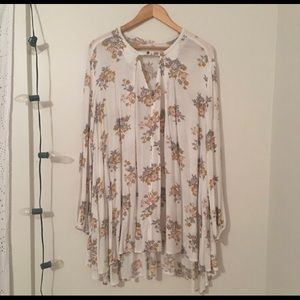 Free People Floral Swing Top